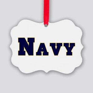 Navy Picture Ornament